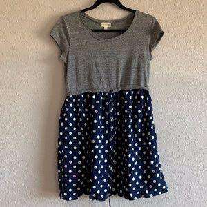 Cute Polka Dot Mini Dress Casual Hipster Boho Chic